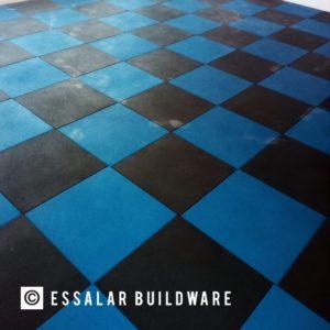blue and black flooring