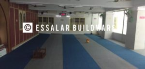 image of carpet laid in mosque