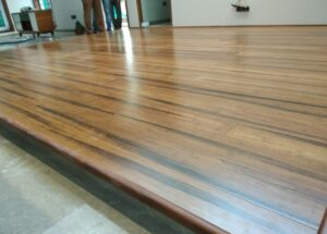 image of wooden flooring with black texture